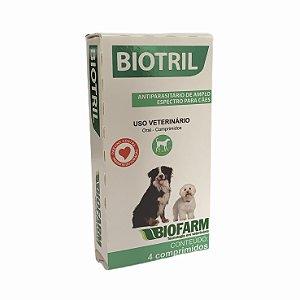 Biotril Antiparasitário C/4 Comprimidos