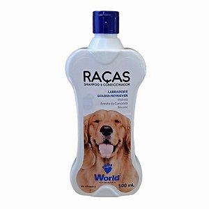 Shampoo E Condicionador Raças Labrador e Golden Retriever 500g