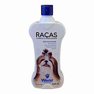Shampoo E Condicionador Raças Shihtzu e Maltês 500g