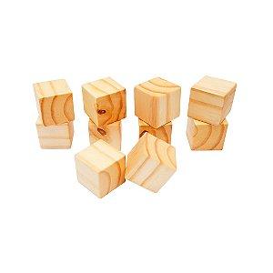 Bloco de madeira - 10 unidades