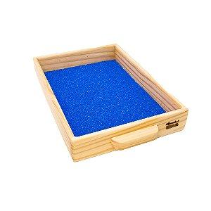 Caixa de areia Montessori para escrita