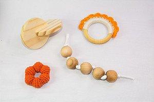 Kit Montessori para bebês - Brinquedos Montessori - 4 peças