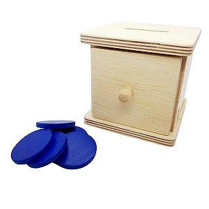 Montessori Caixa de permanência de ficha