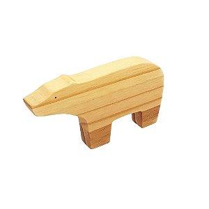 Urso de madeira - Animais de madeira