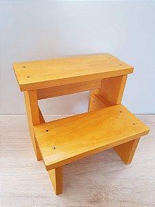 Escada infantil em madeira maciça - natural