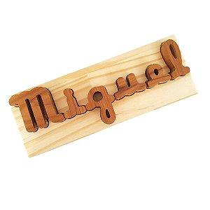Encaixes personalizados em letra cursiva - quebra-cabeça