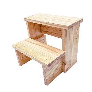 Escada infantil em madeira maciça - verniz transparente