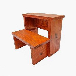 Escada infantil em madeira maciça - mogno inglês