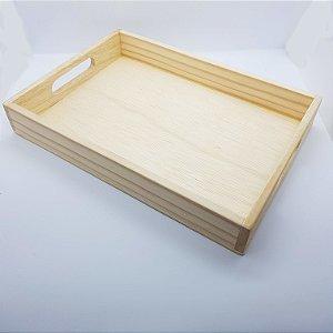 Bandeja de madeira - 38 x 28 cm