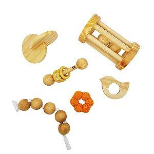 Kit Montessori para bebês - sensorial, coordenação e movimento - com personalização do nome do bebê