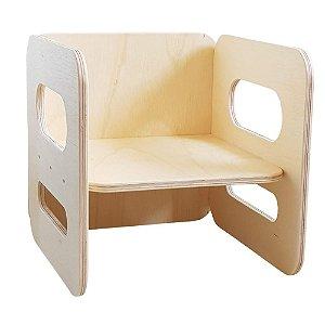 Cadeira cubo Montessori - PEQUENA