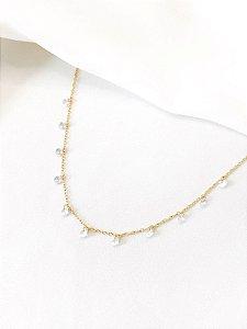 Colar Princesa dourado com cristais