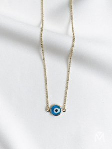 Colar de Olho Grego básico dourado