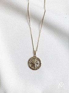 Colar Medalha Divino Espírito Santo dourado