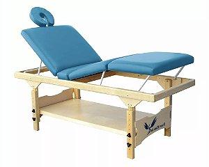 Maca De Massagem Fixa Bali 3 Posições Altura Regulável e Prateleira Inferior