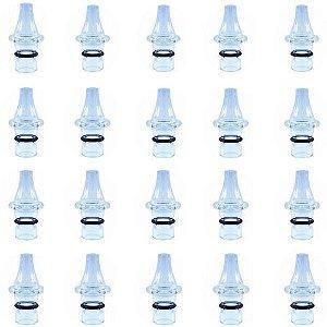 Ponteira p/ Caneta Extratora de Cravos Corpo de Vidro - Kit com 20 Peças