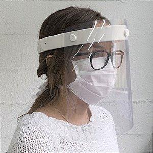 Máscara Protetora Anti Respingo Face Shield - Cor Rosa - Branco ou Azul
