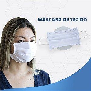 Máscara Lavável Não Descartável De Tecido Hospitalar - Kit com 10 Peças