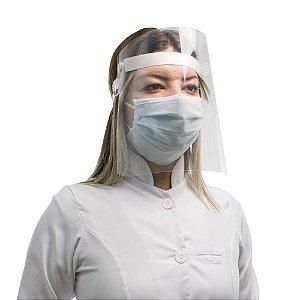 Máscara Protetora Facial Maxx - Anti Respingo - Kit com 10 Máscaras