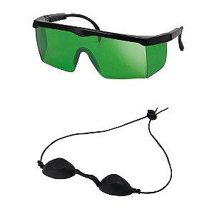 Óculos De Proteção - Operador e Paciente - Kit com 2 Óculos