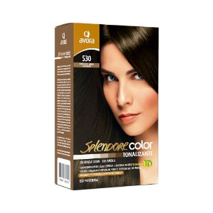 Avora Splendore Color creme tonalizante sem amonia 530 Castanho Claro Dourado