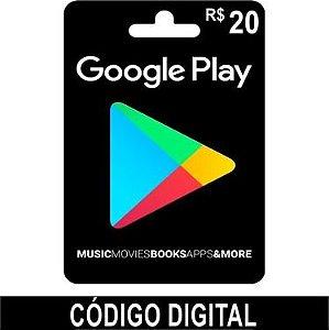 Cartão Google Play R$20 - Brasil