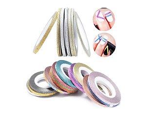 Fitas Glitter - Adesiva - Películas