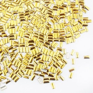 Tachinha Chapinha Retangular Dourada 20 peças