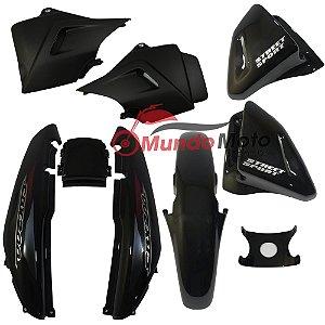 Kit Carenagem Adesivada Honda CBX 200 Strada 2002 Preto - Sportive