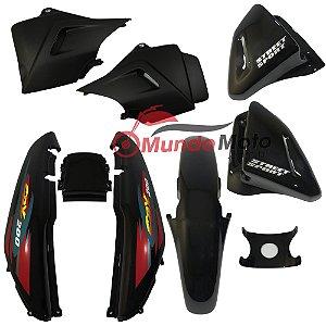 Kit Carenagem Adesivada Honda CBX 200 Strada 2000 Preto - Sportive
