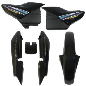 Kit Carenagem Adesivada Yamaha Ybr 125 2002 Preto - Sportive