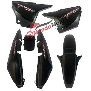 Kit Carenagem Adesivada Titan 150 KS 2008 Preto com Complemento - Sportive