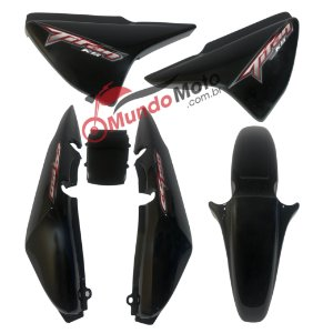 Kit Carenagem Adesivada Titan 150 KS 2008 Preto - Sportive