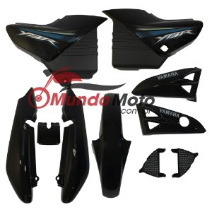 Kit Carenagem Adesivada Yamaha Ybr 125 2008 Preto - Sportive