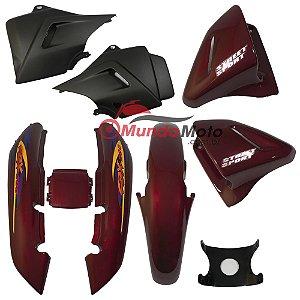 Kit Carenagem Adesivada Honda CBX 200 Strada 2000 Vermelho - Sportive