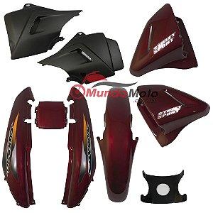 Kit Carenagem Adesivada Honda CBX 200 Strada 2001 Vermelho - Sportive