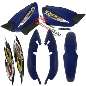 Kit Carenagem Adesivada Titan 125 KS 2001 Azul - Sportive