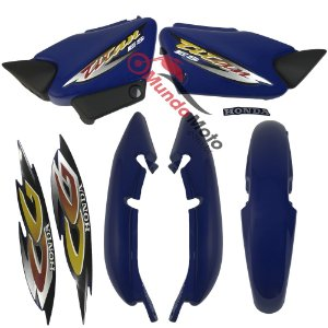 Kit Carenagem Adesivada Titan 125 ES 2001 Azul - Sportive