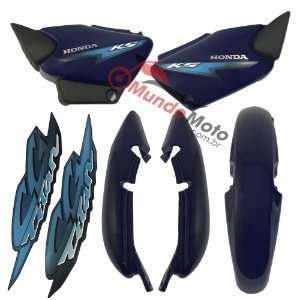 Kit Carenagem Adesivada Titan 125 KS 2002 Azul - Sportive