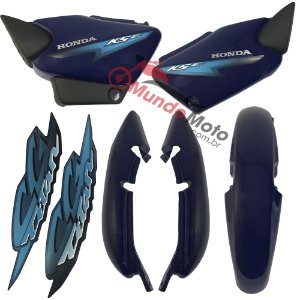 Kit Carenagem Adesivada Titan 125 KSE 2002 Azul - Sportive