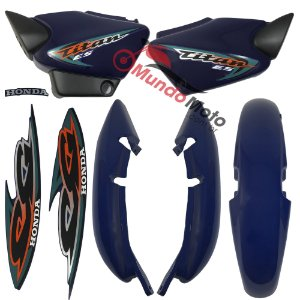 Kit Carenagem Adesivada Titan 125 ES 2000 Azul - Sportive