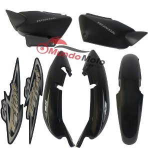 Kit Carenagem Adesivada Titan 125 KS 2004 Preto - Sportive