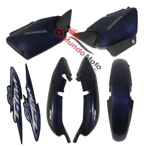 Kit Carenagem Adesivada Titan 125 KS 2003 Azul - Sportive