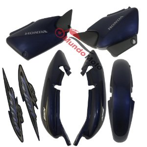 Kit Carenagem Adesivada Titan 125 KSE 2004 Azul - Sportive