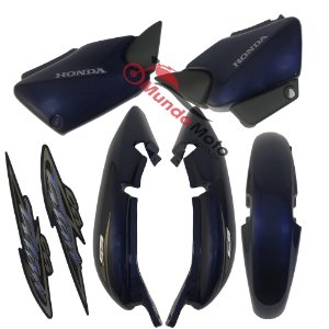 Kit Carenagem Adesivada Titan 125 ES 2004 Azul - Sportive