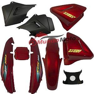 Kit Carenagem Adesivada Honda CBX 200 Strada 1998 Vermelho - Sportive