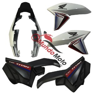 Kit Carenagem Adesivada Honda Titan 160 Ex 2017 Branco