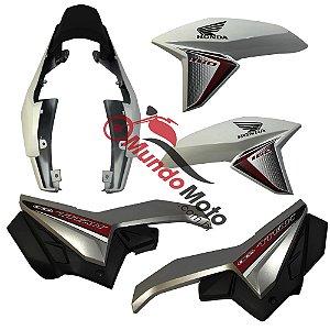 Kit Carenagem Adesivada Honda Titan 160 Ex 2016 Branco
