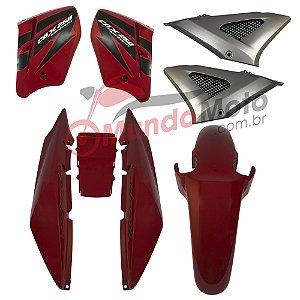 Kit Carenagem Adesivada Honda CBX 250 Twister 2008 Vermelho - Sportive