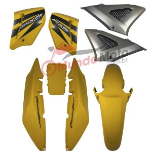 Kit Carenagem Adesivada Honda CBX 250 Twister 2008 Amarelo - Sportive